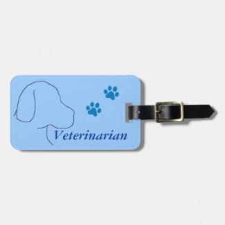 Veterinarian Paw Prints/Labrador Tag For Luggage