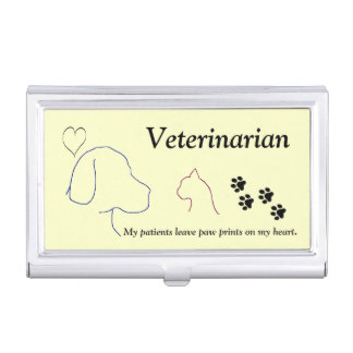 Veterinarian - Paw Prints on My Heart #2 Business Card Case