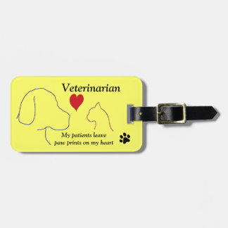 Veterinarian - Paw Prints on My Heart #2 Luggage Tag