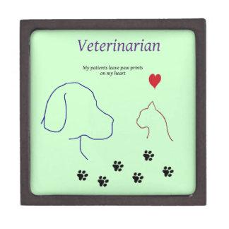 Veterinarian-Paw prints on my heart Gift Box