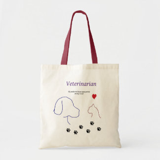 Veterinarian-Paw prints on my heart Tote Bag