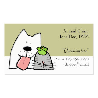 Veterinarian, Pet Care Pro, Customize Double-Sided Standard Business Cards (Pack Of 100)
