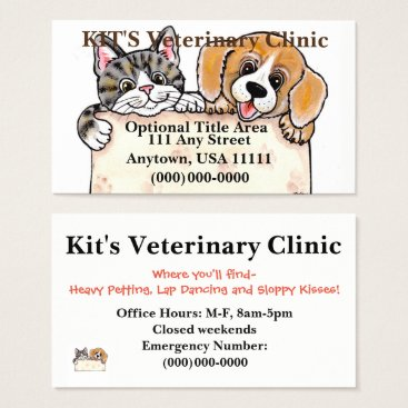Professional Business Veterinarian, Pet Shop, Pet Groomer Business Card