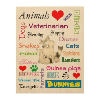 Veterinarian Picture for Clinic Wood Print