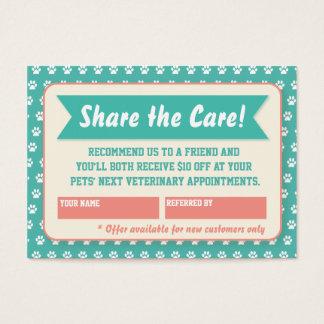 Veterinarian Referral Card - Personalizable