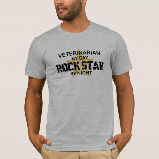 Veterinarian Rock Star by Night T-Shirt