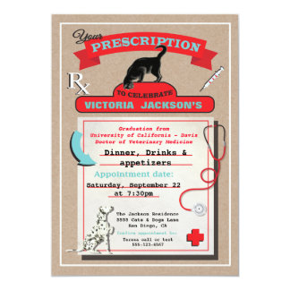 Veterinarian School Graduation Invitation