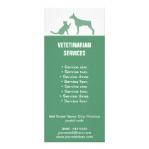 Veterinarian Services Dog and Cat rack card