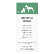 Veterinarian Services white Dog and Cat rack card