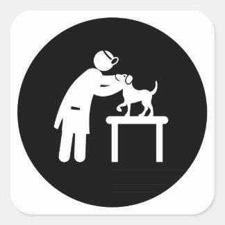 Veterinarian Square Sticker