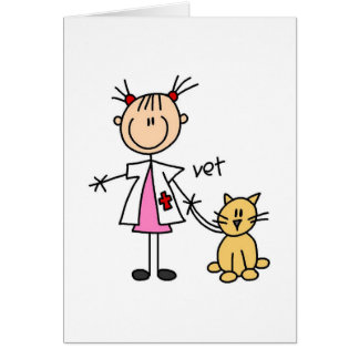 Veterinarian Stick Figure Card
