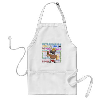 Veterinarian-Subway Art Vet Terms Adult Apron