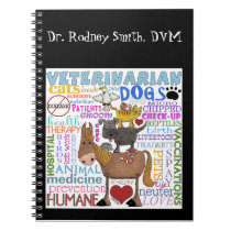 Veterinarian-Subway Art Vet Terms Notebook