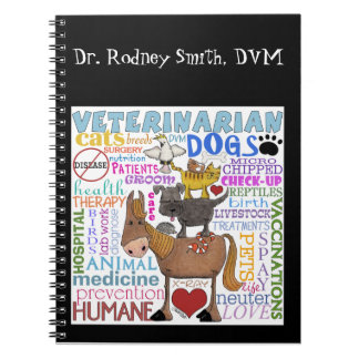Veterinarian-Subway Art Vet Terms Spiral Notebook