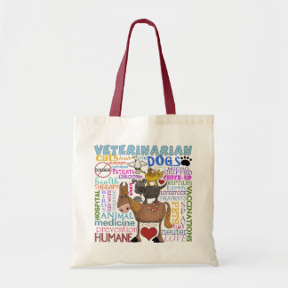 Veterinarian-Subway Art Vet Terms Tote Bag