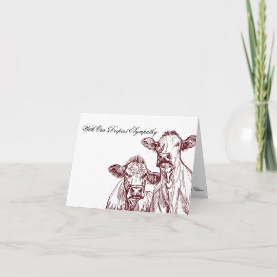 veterinarian sympathy card livestock cow zazzle com