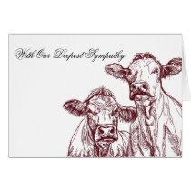 Veterinarian Sympathy Card Livestock Cow