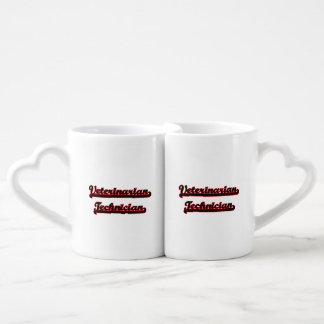 Veterinarian Technician Classic Job Design Couples' Coffee Mug Set