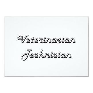 Veterinarian Technician Classic Job Design 5x7 Paper Invitation Card