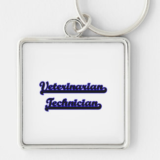 Veterinarian Technician Classic Job Design Silver-Colored Square Keychain