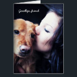 """Veterinarian Thank You for Rainbow Bridge Pets. Card<br><div class=""""desc"""">Inspired by the recent loss of our own beloved dog, Red - this card was designed to allow grieving pet owners to thank their vet doctor or clinic, pet daycare or groomer for many years of service and care. Upload your own large sized favorite photograph of you and your best...</div>"""