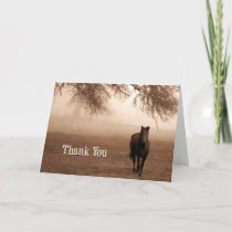 Veterinarian Thank You Sepia Horse