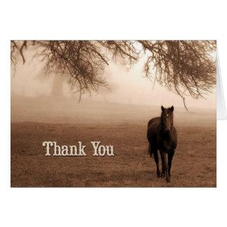 Veterinarian Thank You Sepia Horse Card