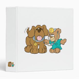 veterinarian vet teddy bear design 3 ring binders