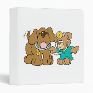 veterinarian vet teddy bear design binders