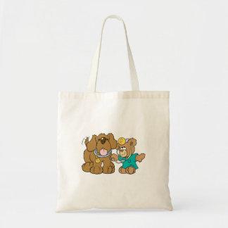 veterinarian vet teddy bear design budget tote bag