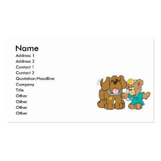 veterinarian vet teddy bear design Double-Sided standard business cards (Pack of 100)