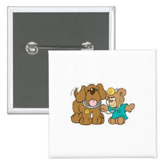 veterinarian vet teddy bear design 2 inch square button
