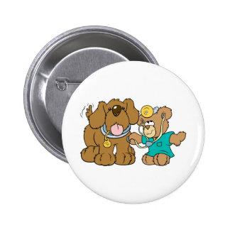 veterinarian vet teddy bear design 2 inch round button