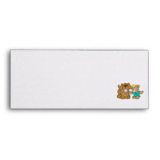 veterinarian vet teddy bear design envelope