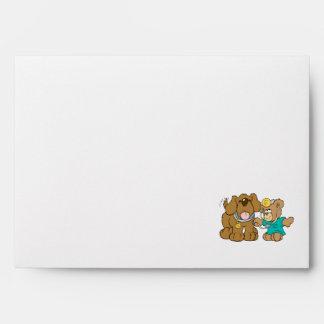 veterinarian vet teddy bear design envelopes