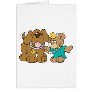 veterinarian vet teddy bear design greeting card