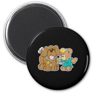 veterinarian vet teddy bear design 2 inch round magnet