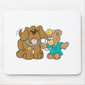 veterinarian vet teddy bear design mouse pad