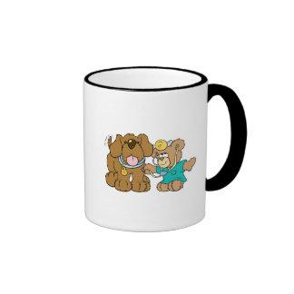 veterinarian vet teddy bear design ringer coffee mug
