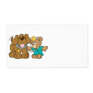 veterinarian vet teddy bear design shipping label