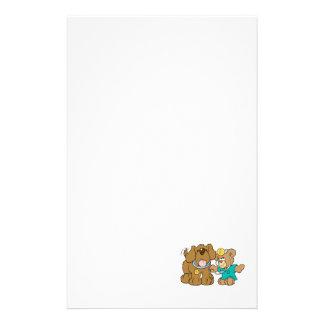 veterinarian vet teddy bear design stationery