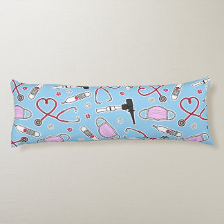 Veterinarian / Veterinary Technician Pattern Blue Body Pillow
