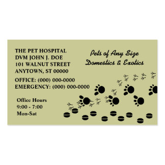 VETERINARIAN VETS PET SERVICE BUSINESS CARDS