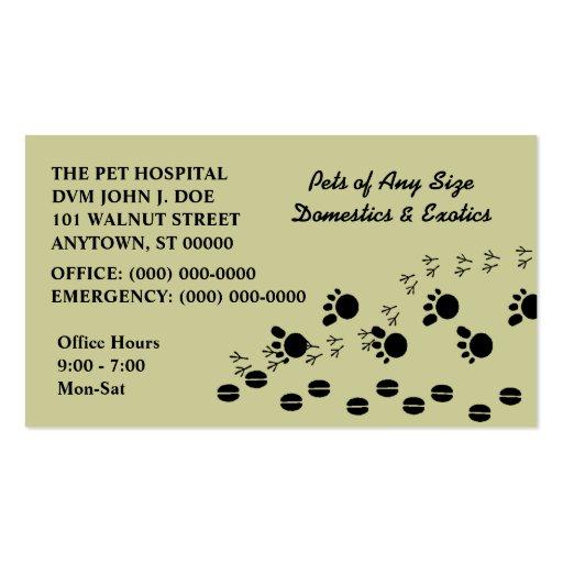 VETERINARIAN VETS PET SERVICE BUSINESS CARDS