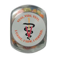 Veterinarian VVV Caduceus Glass Candy Jars at Zazzle