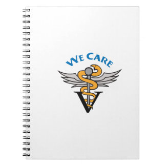 VETERINARIAN WE CARE SPIRAL NOTE BOOK