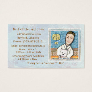 Veterinarian & Westie Dog Business Cards