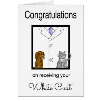 Veterinarian White Coat Congratulations Card