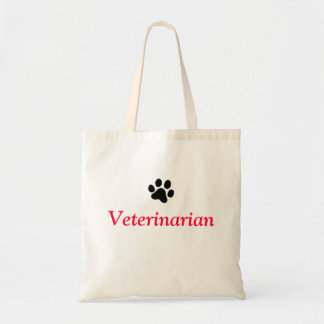 Veterinarian with Black Paw Print Tote Bag