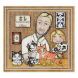 Veterinarian With Kittens Posters